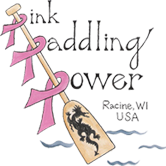 Pink Paddling Power Racine Logo