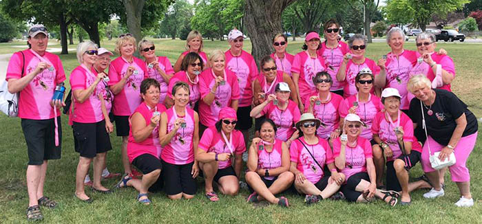 Pink Paddling Power Dragon Boating Champions