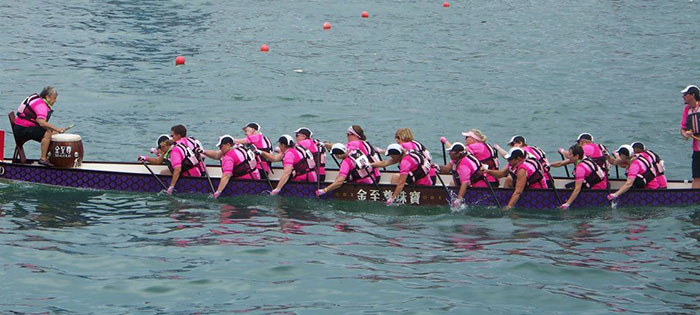 Pink Paddling Power Dragon Boating